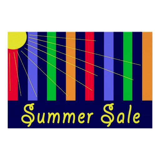 Summer Sale Store Sign Print