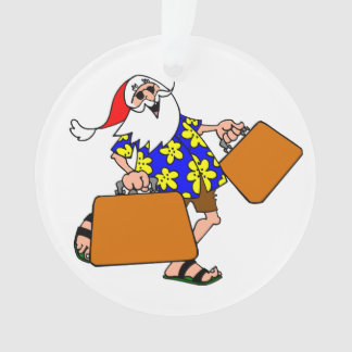 Summer Santa Ornament