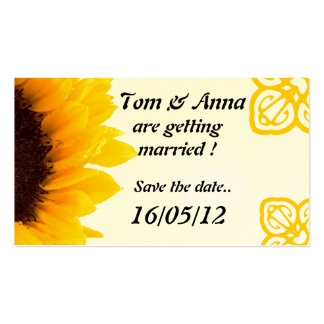 Summer Save The Date Business Card. Pack Of Standard Business Cards