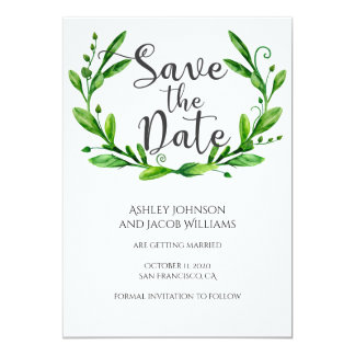 Summer save the date. Garden wedding announcement