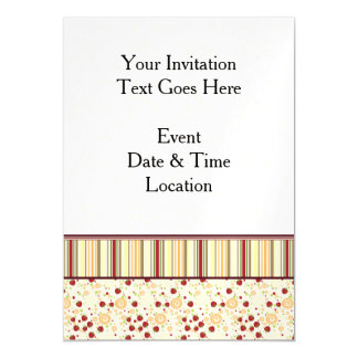 Summer Scattered Strawberry Swirl Pattern - Border Magnetic Card