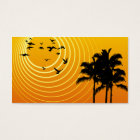 summer scene business card