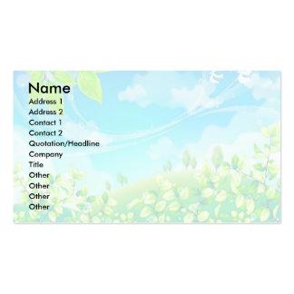 summer scene wedding doves light business card template