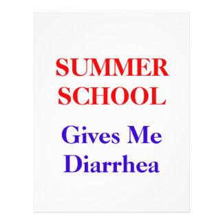 Summer School Diarrhea 21.5 Cm X 28 Cm Flyer
