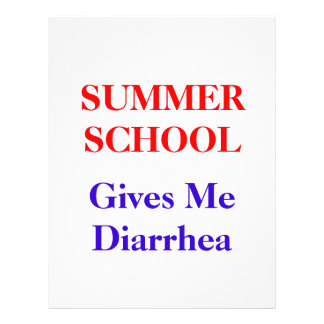 Summer School Diarrhoea 21.5 Cm X 28 Cm Flyer