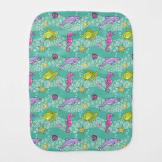 Summer Sea Pattern Burp Cloth