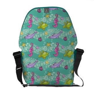 Summer Sea Pattern Messenger Bag