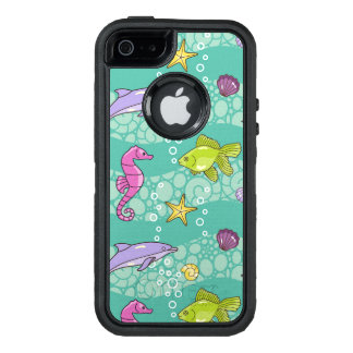 Summer Sea Pattern OtterBox Defender iPhone Case