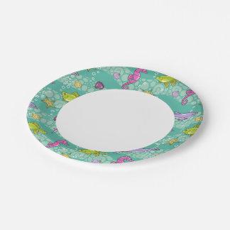 Summer Sea Pattern Paper Plate