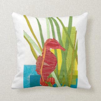Summer Seahorse Pillow