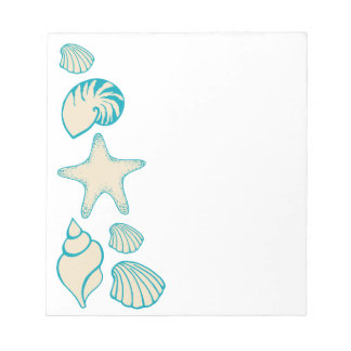 Summer Seashell Beach Notepad Gift