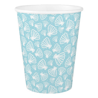 Summer Shell Pattern Paper Cup