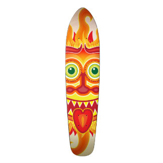 Summer shiny sun grinning and sticking tongue out 19.7 cm skateboard deck