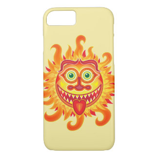 Summer shiny sun grinning and sticking tongue out iPhone 8/7 case