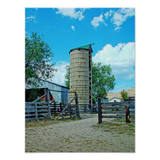 Summer Silo HDR Poster