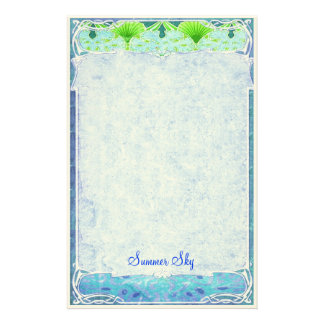 Summer Sky - Art Nouveau Stationery