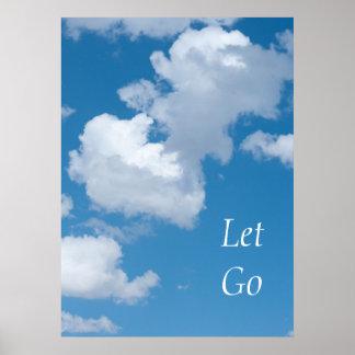 "Summer Sky Photo ""Let Go"" Inspirational Poster"
