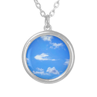 summer sky silver plated necklace