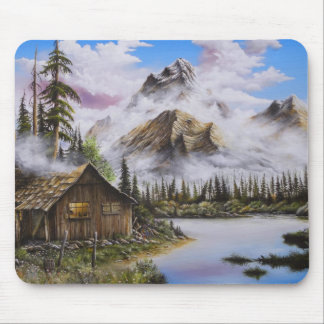 Summer Solitude Oil painting by David Paul Mouse Pad