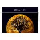 Summer Solstice Blessings with tree and moon Card