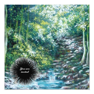 SUMMER SONGS IN THE FOREST 13 CM X 13 CM SQUARE INVITATION CARD