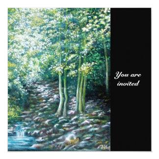 SUMMER SONGS 13 CM X 13 CM SQUARE INVITATION CARD