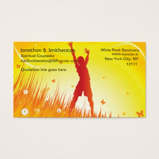 Summer Spirit Business Card