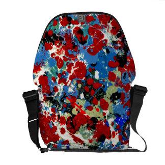 SUMMER SPLASH! (an abstract art design) ~ Commuter Bag