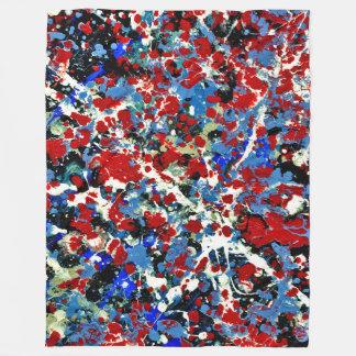 SUMMER SPLASH! (an abstract art design) ~ Fleece Blanket