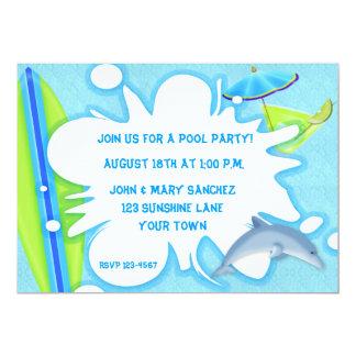 "Summer Splash Invitation 5"" X 7"" Invitation Card"