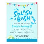 Summer Splash Pool Party Boys Birthday 11 Cm X 14 Cm Invitation Card