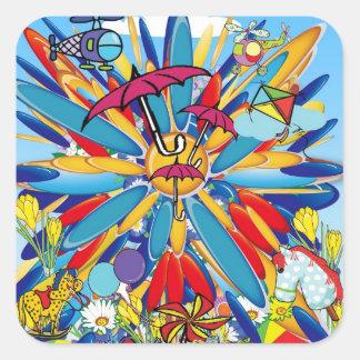 Summer Splash! Square Sticker