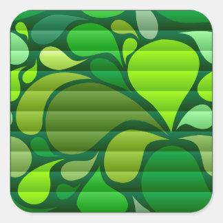 Summer Splash Square Sticker