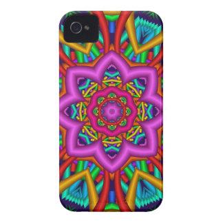 Summer star, artistic kaleidoscope design iPhone 4 case