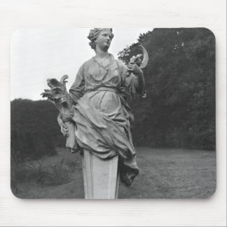 Summer, statue in the gardens mouse mat