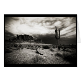 Summer Storm at the Superstition Mountains Greeting Card