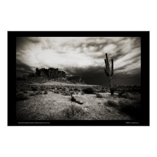 Summer Storm at the Superstition Mountains Poster