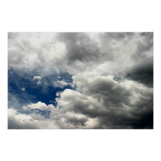 Summer Storm Clouds, Nevada Poster