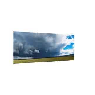 Summer storm triptych. canvas print