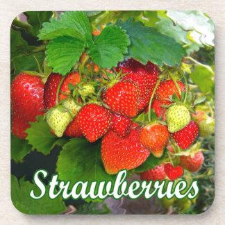 Summer Strawberries ~ Cork Coaster Set # 2