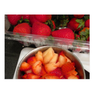 Summer Strawberries Postcard
