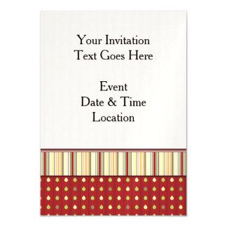 Summer Strawberry Seeds Pattern With Border Magnetic Invitations
