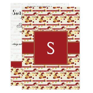 Summer Strawberry Sweet Treats Pattern - Initial Card