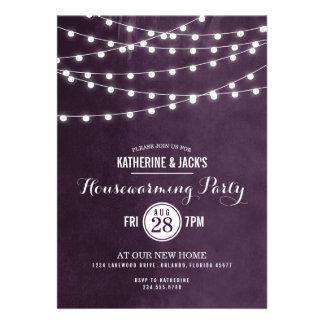 Summer String Lights Housewarming Party Invitation