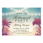 Summer String Lights Outdoor Retirement Party Card