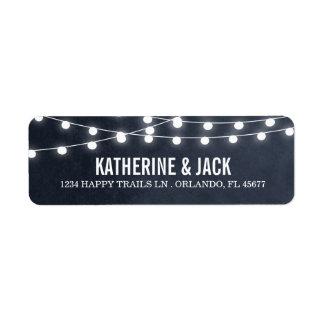 Summer String Lights Wedding Address Labels