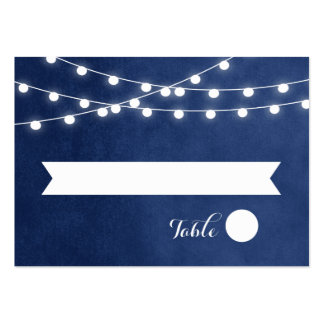 Summer String Lights Wedding Escort Cards Pack Of Chubby Business Cards