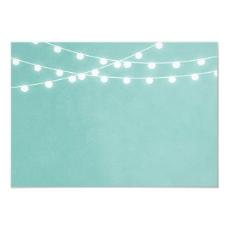 Summer String Lights Wedding Insert Card 9 Cm X 13 Cm Invitation Card