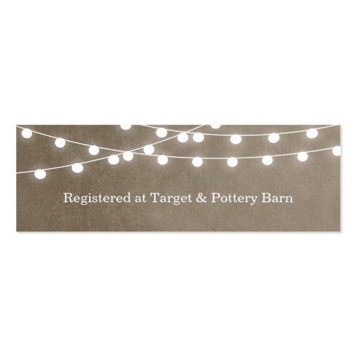 Summer String Lights Wedding Insert Card Business Card Template