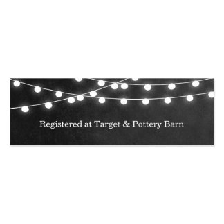 Summer String Lights Wedding Insert Card Pack Of Skinny Business Cards